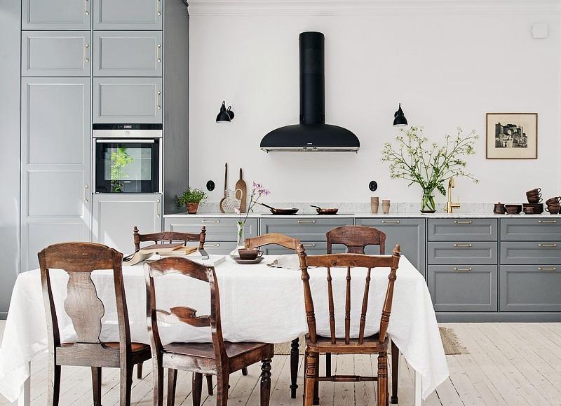 10x de mooiste keukens met een likje grijze verf alles om van je huis je thuis te maken - Grijze verf leisteen ...