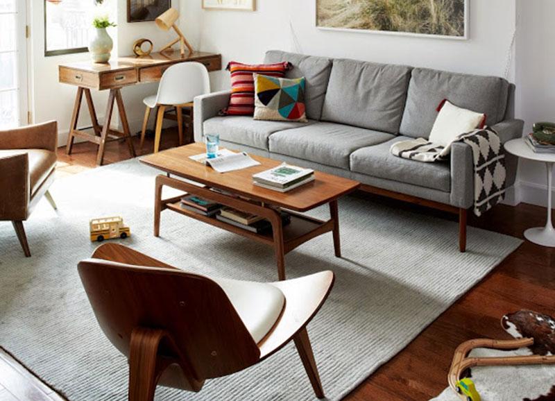 Mid century interieur met hout alles om van je huis je for Living room west 6 brooklyn