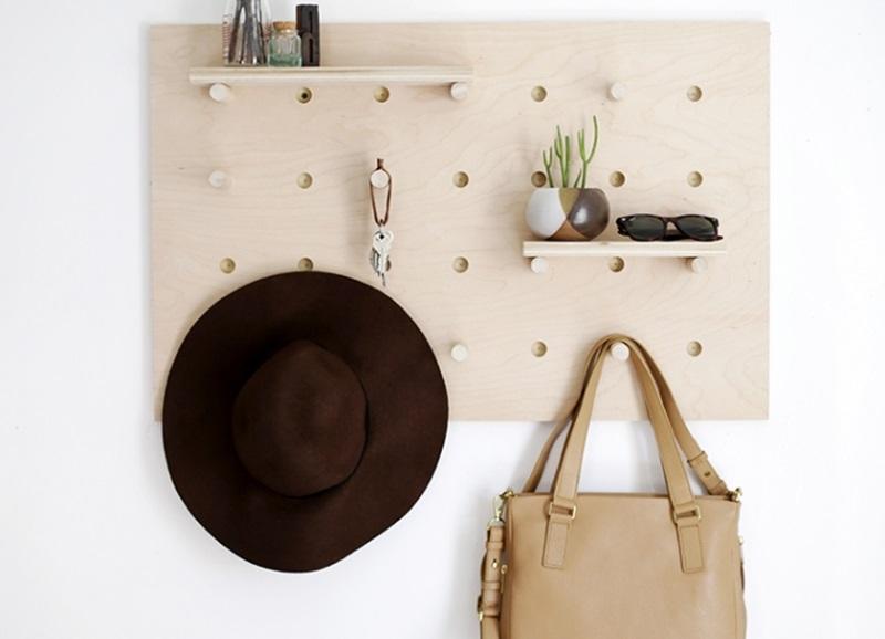 Diy zo maak je deze kapstok wand organizer zelf alles om van je huis je thuis te maken - Hoe je je woonkamer eetkamer kunt verbeteren ...