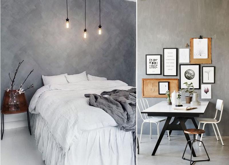 Trend: geef je muur een betonlook alles om van je huis je thuis te