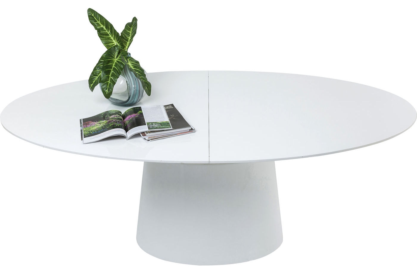 Ronde tafel wit uitschuifbaar art
