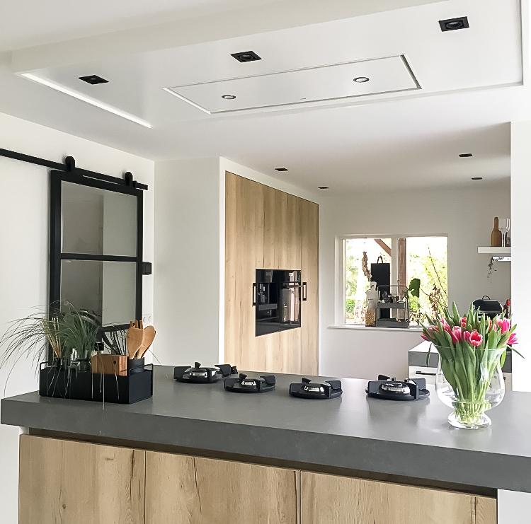 keuken hout en beton