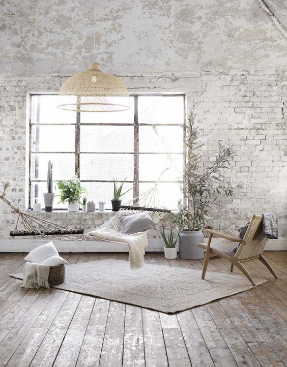 De mooiste interieurs met witte bakstenen muren alles om van je huis je thuis te maken - Binnenkleuren met witte muur ...