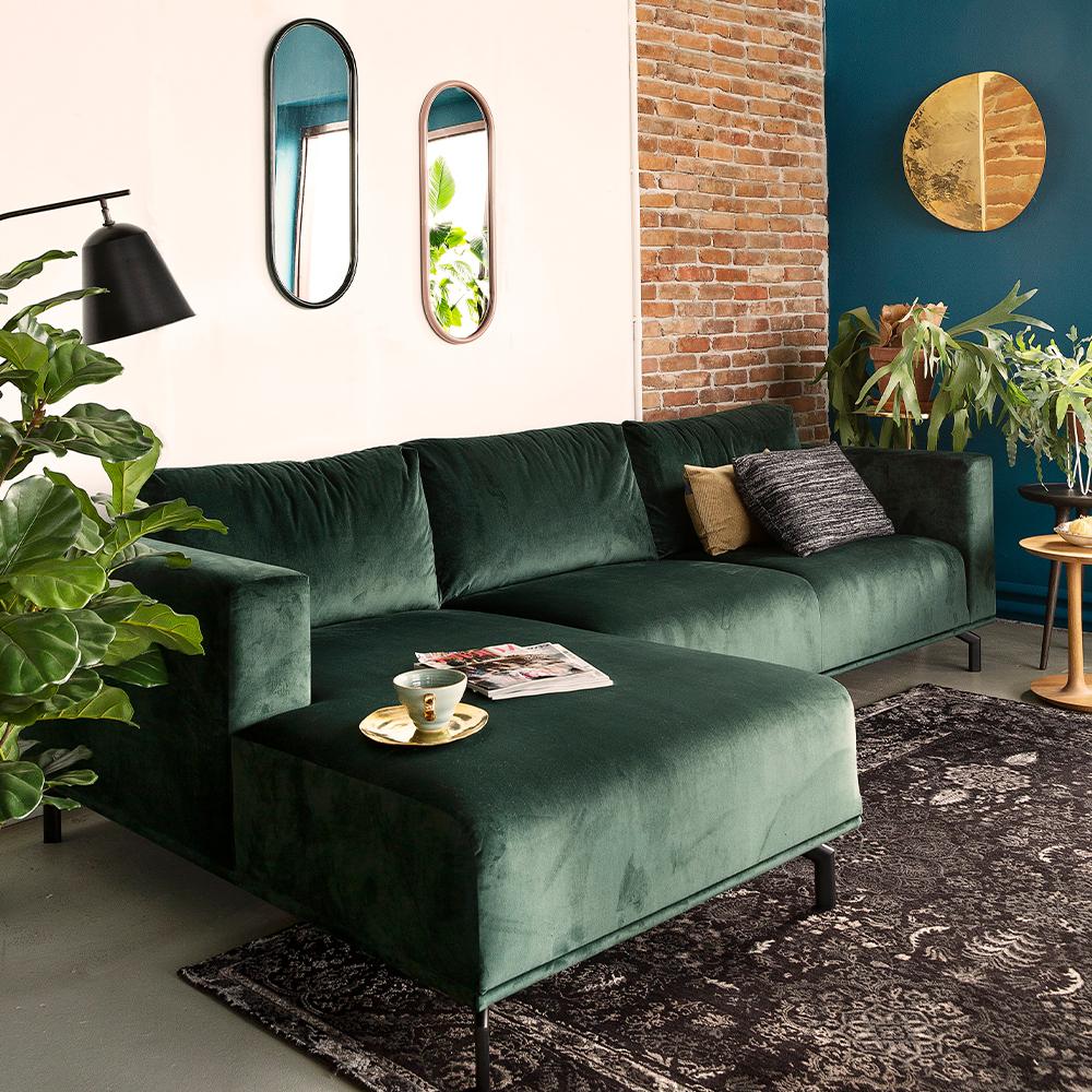 woonkamer bank groen