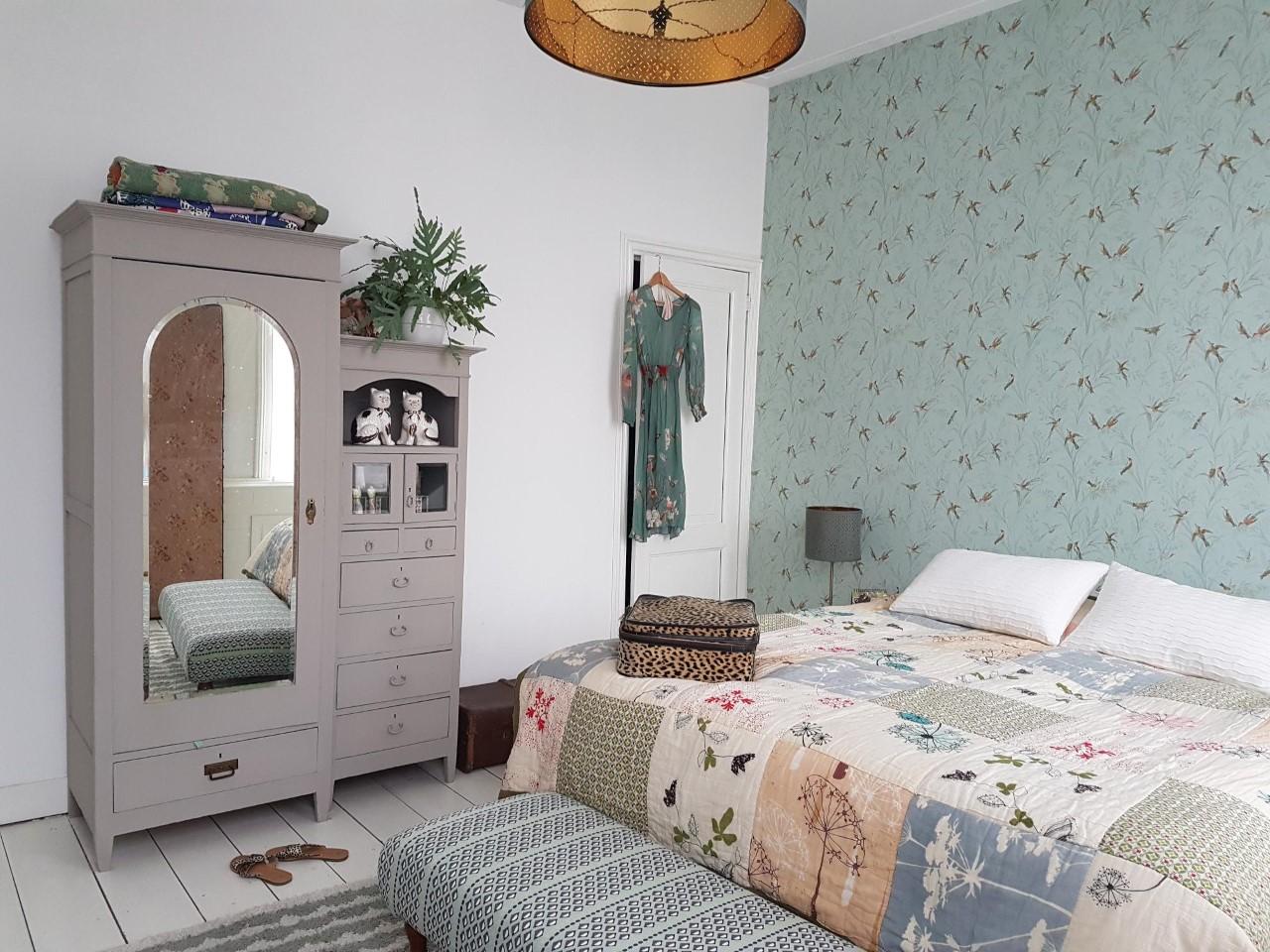 eclectische slaapkamer