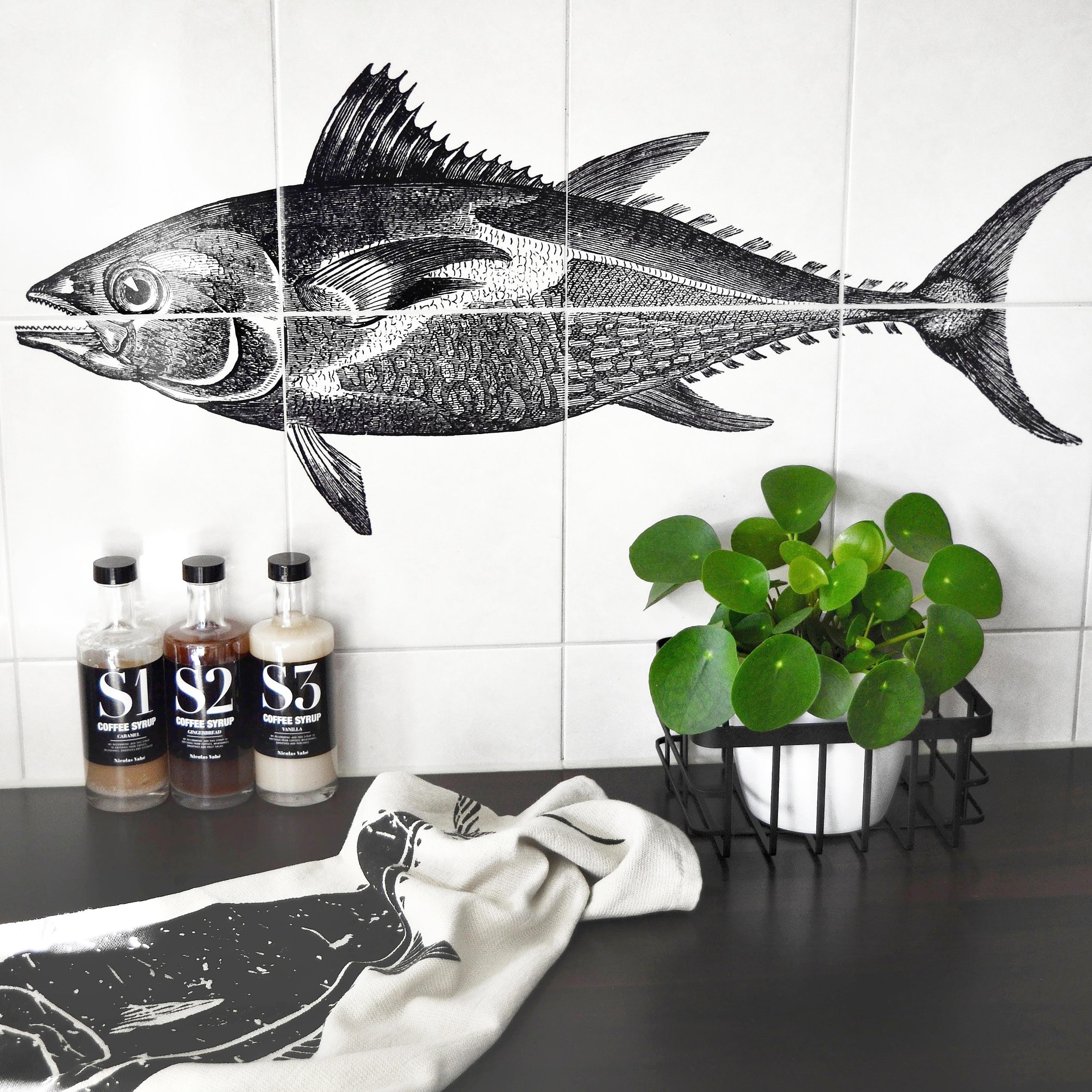 tegels keuken visprint