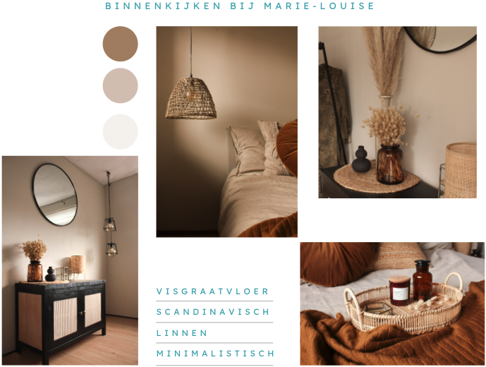 slaapkamer beige aardetinten