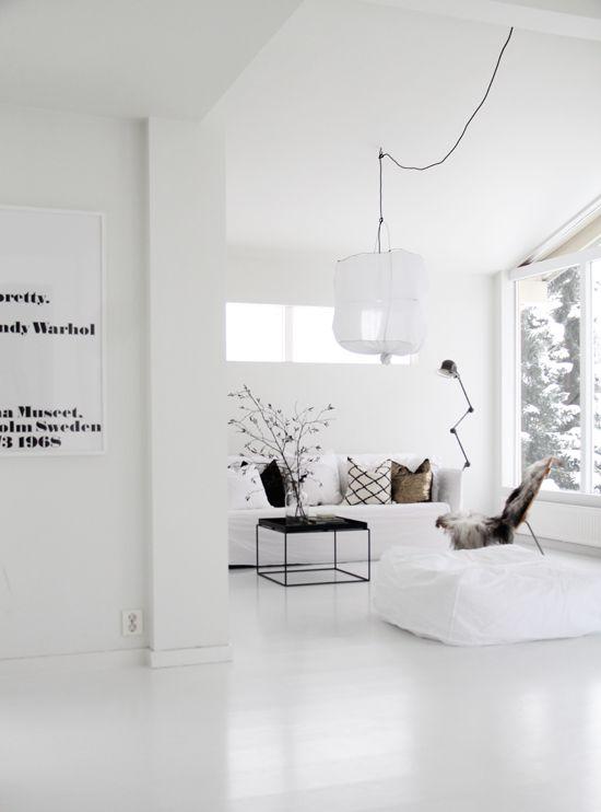 10x de mooiste interieurs met een witte vloer - Alles om van je huis ...