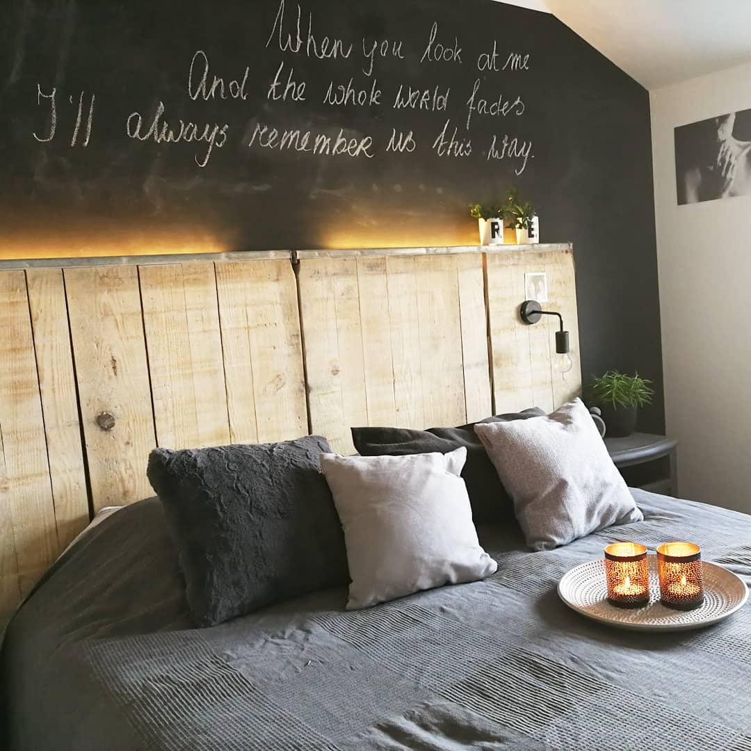 slaapkamer krijtmuur