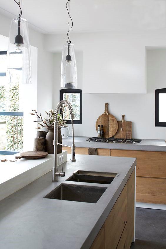 Bekend 10x de mooiste keukens met beton - Alles om van je huis je Thuis  &VH14