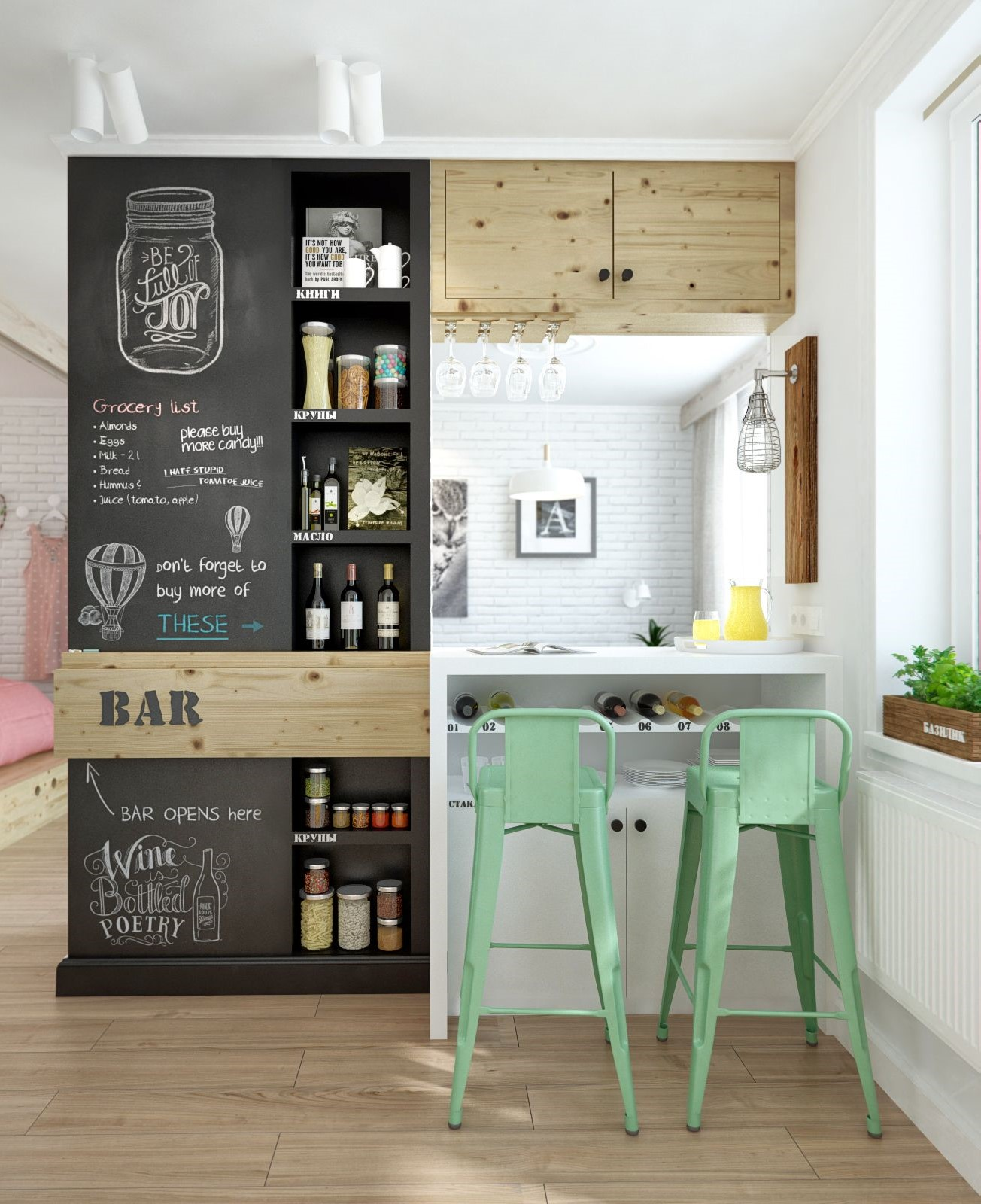 Krijtbord Keuken Xenos : 5x de mooiste interieurs met een krijtbord wand – Alles om van je huis