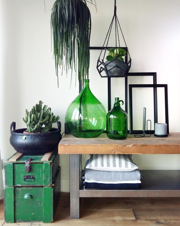 vintage wohnzimmer blau dekoration inspiration
