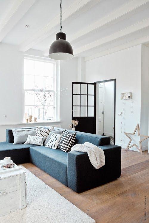 Blauw Grijze Hoekbank.7x De Mooiste Blauwe Banken Van Pinterest Alles Om Van Je Huis Je