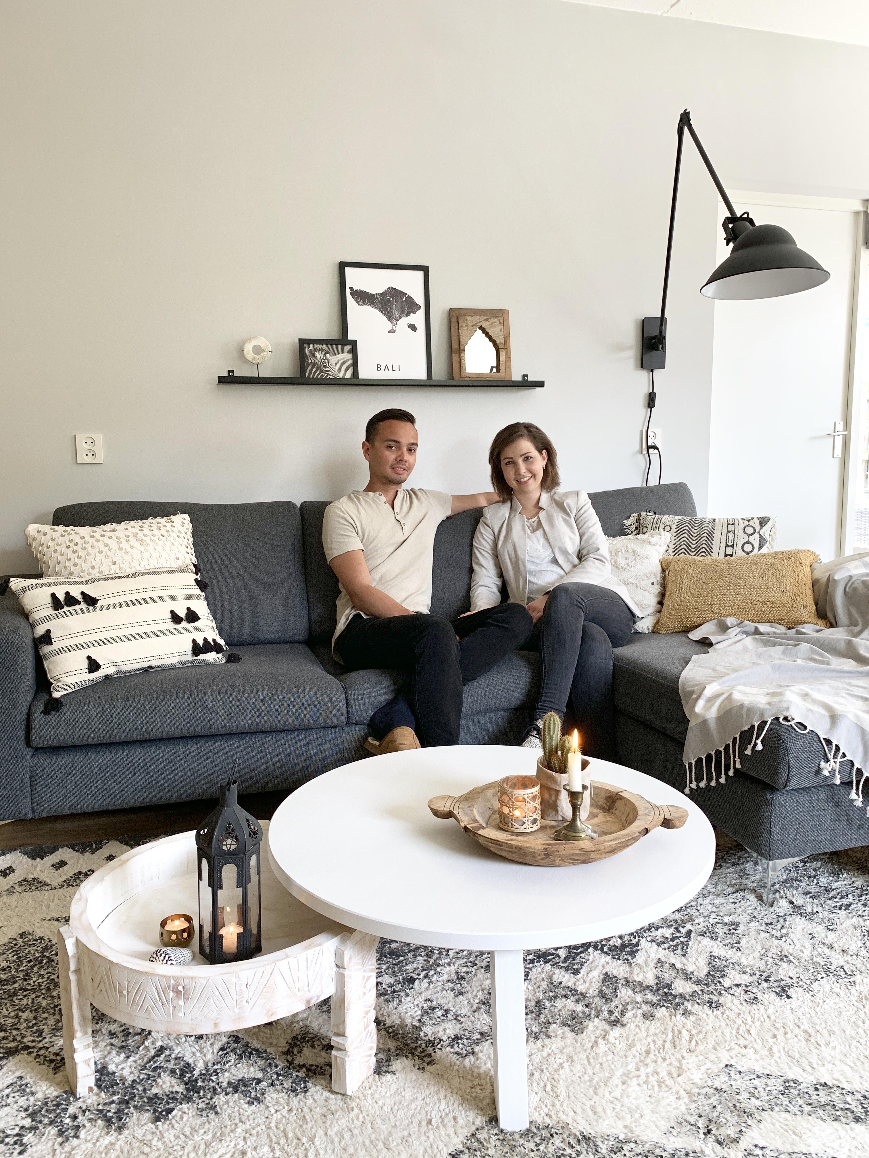 bohemien woonkamer met robin en Fiona