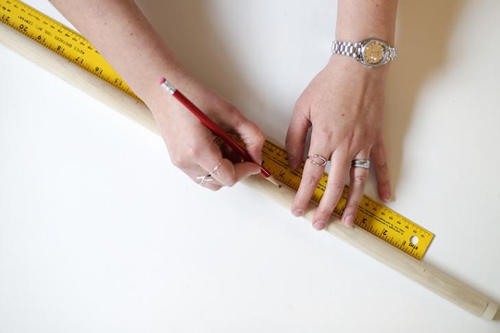 DIY kapstok wand organizer