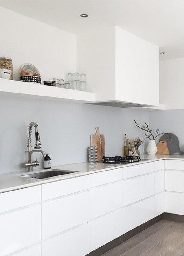 10x de mooiste 39 all white 39 keukens alles om van je huis je thuis te maken - Witte keuken voorzien van gelakt ...