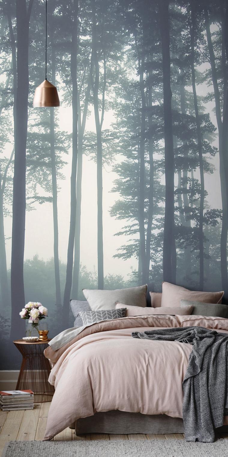 slaapkamer natuur behang