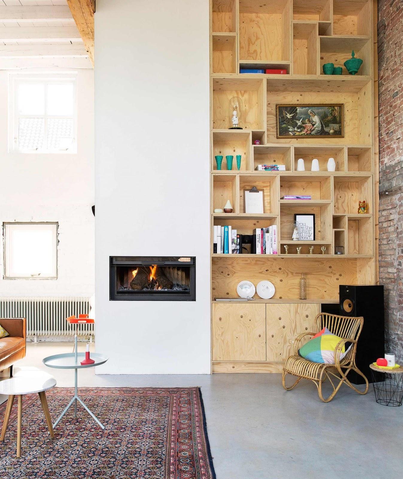 plywood in het interieur