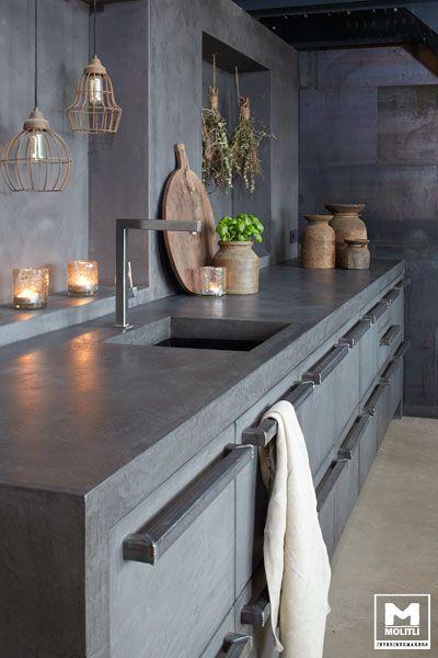 10x de mooiste keukens met een likje grijze verf alles om van je huis je thuis te maken - Idee deco keuken grijs ...