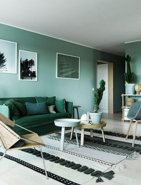 10x interieurs met een groene muur - Alles om van je huis je Thuis ...