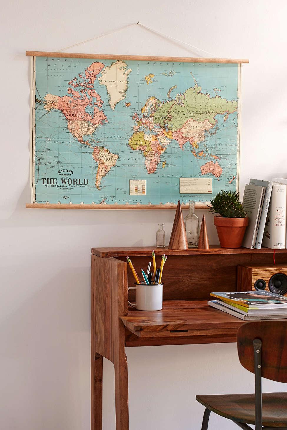 Die 10 schönsten Interior mit Weltkarten - Alles was du